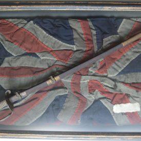 Captured Blockade Runner Flag and Memorabilia of Civil War Naval Officer