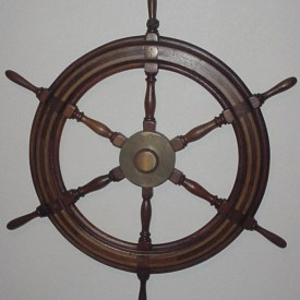 Ship's Wheel from D-Day Blockship