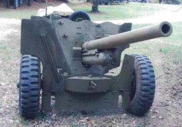 M1 57MM anti-tank gun and carriage