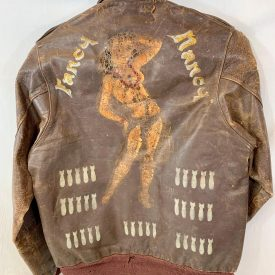 Historic Identified WWII Painted Leather A-2 Bomber Jacket