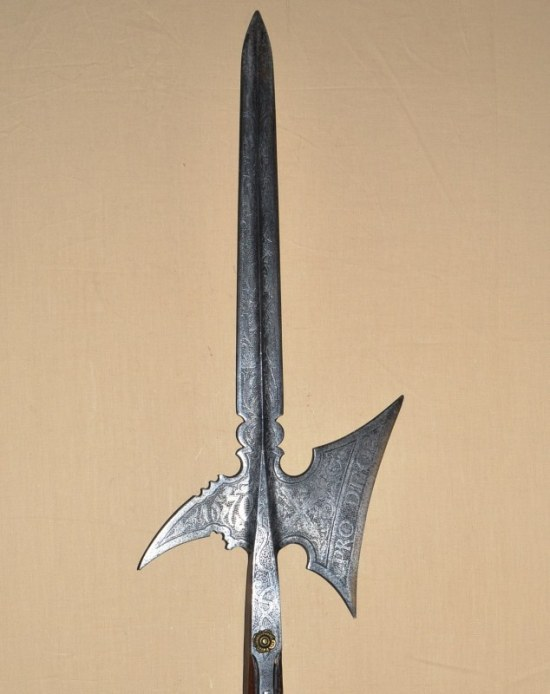 Etched Halberd of the Guard of Austrian Archduke Karl II Franz